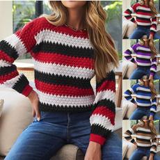 sweaterswomenlongsleeve, Winter, sweaterscardigan, Casual sweater