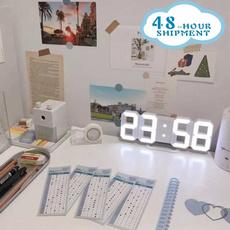 desktopleddigitalclock, householdwallclockwithtemperature, Clock, Watch