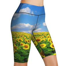 runningshort, Shorts, Yoga, Sunflowers