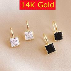 DIAMOND, moissanite earrings, gold, Classics