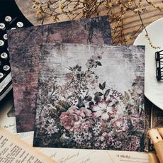 butterfly, album, Flowers, Vintage