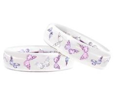 butterfly, Sterling, DIAMOND, 925 silver rings