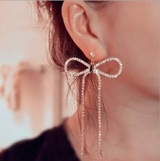 DIAMOND, Dangle Earring, Jewelry, vintage earrings
