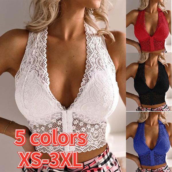 Deep V-Neck, Vest, Plus Size, crop top