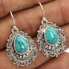 Sterling, Turquoise, Natural, Jewelry