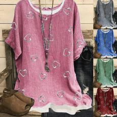 blouse, Plus Size, Love, Heart