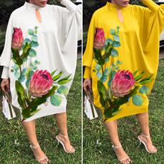 Plus Size, floralprintdres, Vestidos, vestido