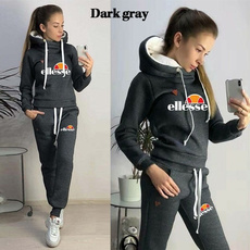 tracksuit for women, Two-Piece Suits, Winter, Fleece