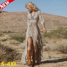 Summer, Fashion, womensfashiondresssummer, Long Sleeve