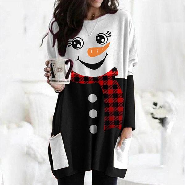 cute, Plus Size, Christmas, Sleeve