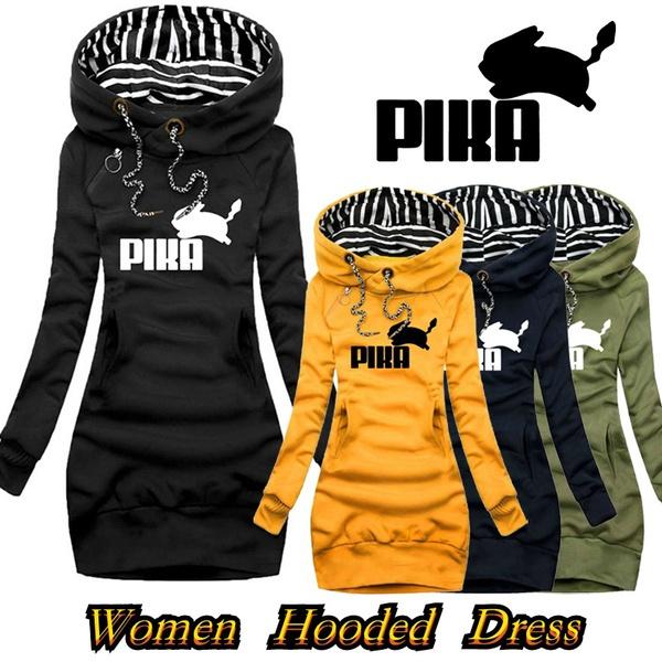 slim dress, hooded, sweater dress, pullover hoodie