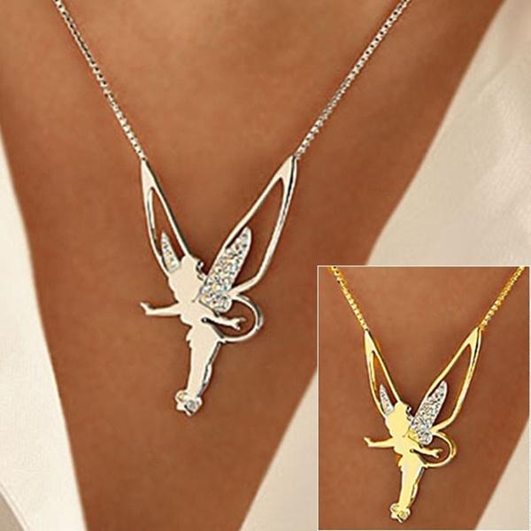 925 sterling silver necklace, wingnecklace, angelnecklace, angelpendantnecklace