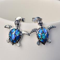 Turtle, cute, opalearring, Jewelry