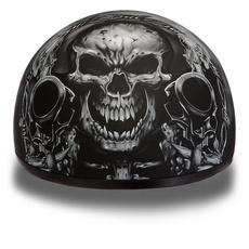 Helmet, vespa, Woman, skull