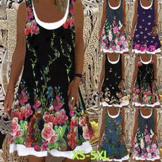 Summer, Plus Size, women dresses, Сукня