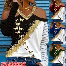 Fashion, Women Fashion Tops, Long Sleeve, vnecktop