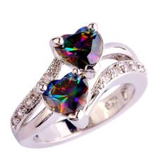 rainbow, crystal ring, zirconring, rhinestonering
