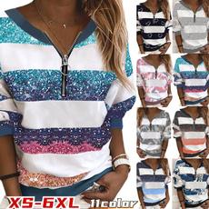 Deep V-Neck, blouse, Plus Size, Winter