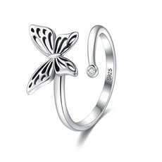 butterfly, butterflyring, Jewelry, Silver Ring