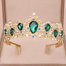 golden, princesscrown, Jewelry, Wedding Accessories