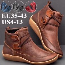 leatherbootsforwomen, Medieval, Waterproof, Ankle