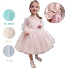 gowns, girls dress, girlbirthdaypresent, Long Sleeve