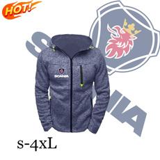 Fleece, hooded, Sport, Coat