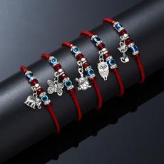 Charm Bracelet, Blues, Rope, eye