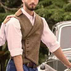 Vest, Fashion, Slim Fit, causalmensvest