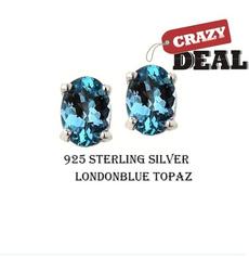 Sterling, bluesearring, Sterling Silver Earrings, Stud Earring
