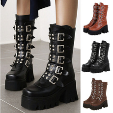 Shoes, platformboot, midcalfboot, Fashion