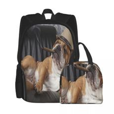 Box, School, englishbulldogsmokingdrinkwinedog, Tote Bag