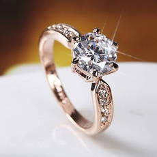 DIAMOND, Jewelry, 925 silver rings, proposalring