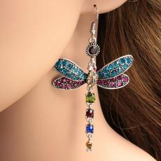 dragon fly, Hoop Earring, Dangle Earring, Jewelry
