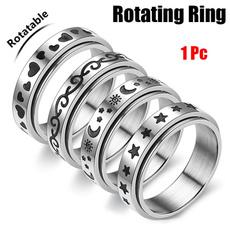 Steel, cute, rotatablering, Star