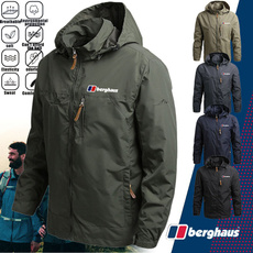 Stand Collar, cargojacket, Plus Size, Outdoor