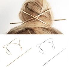girlshairpin, hairornament, goldhairpin, Ornament