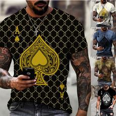 Poker, Shorts, Necks, Sleeve