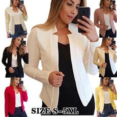 casual coat, Plus Size, Blazer, Office