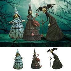 witchdecoration, girlstatue, Garden, halloweenwitchdecoration