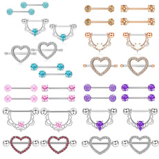 Steel, nipplepiercing, Jewelry, Stainless
