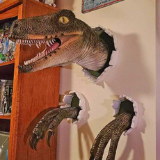 wallmounteddinosaur, art, Home Decor, wallburstingdinosaur