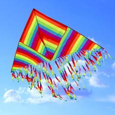 trianglekite, Polyester, rainbow, Triangles
