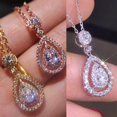 DIAMOND, Jewelry, Drop, sapphirependant