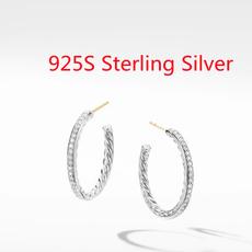 Sterling, Charm, DIAMOND, Sterling Silver Earrings