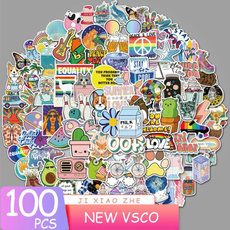 suitcasesticker, Colorful, Waterproof, Stickers