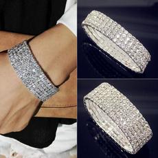 Sterling, Crystal Bracelet, DIAMOND, sterling silver