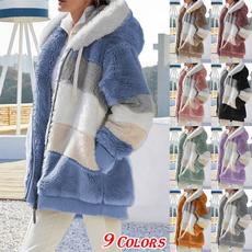 fur coat, Plus Size, sweater coat, Long Sleeve