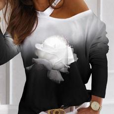 blouse, Splicing, strapless, Fashion