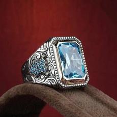 Sterling, ringsformen, anillosparahombre, Fashion